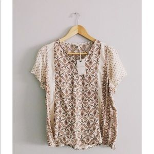 Lucky Brand Tunic Blouse New